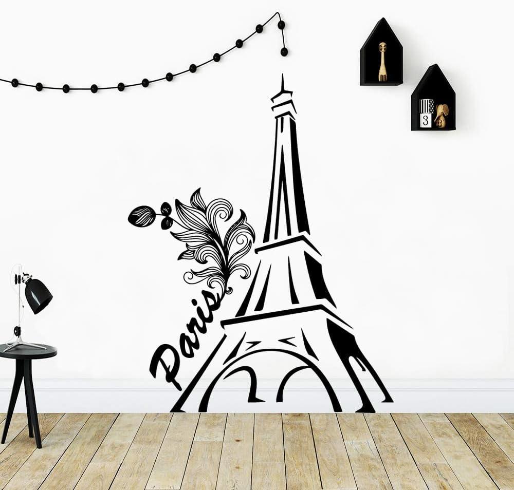 yaonuli Etiqueta engomada Linda de la Pared de la decoración del hogar de la Torre Gemela para la Etiqueta de la habitación de los niños Pegatina creativa54x68cm: Amazon.es: Hogar