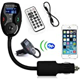 Car Kit Handsfree FM Transmitter Car KIT MP3 Music Player Radio Adapter with Remote Control For iPhone Samsung USB SD Slot FM Modulator with Bluetooth