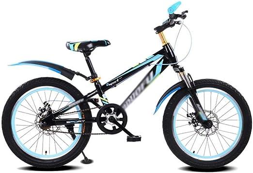 KOSGK Bicicletas para NiñOs Bicicletas Marco Templado Bicicleta Paseo para Hombre Y Mujer Bicicleta MontañA 16 Pulgadas Bicicleta 5-8 AñOs (Color: Negro): Amazon.es: Hogar