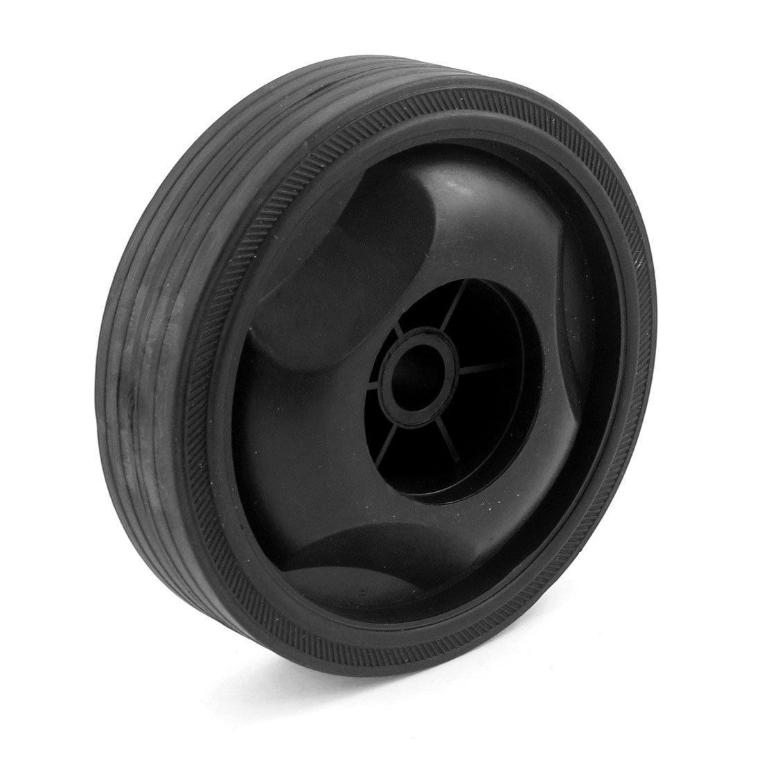 Plá stico Negro 16mm Soporte Agujero Bomba del Compresor De Aire Rueda sourcingmap a13070400ux0510