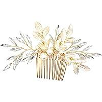 YAZILIND Peine del Pelo Accesorios para el Cabello Boda Tocado Cristal Copos de Nieve Rhinestones para la Novia Regalo de Dama de Honor de Navidad Mujeres