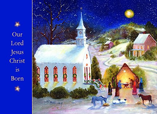 Performing Arts Full Color Inside Church Nativity Display Stationery Paper, (Nativity Display)
