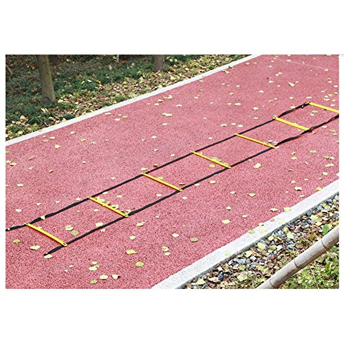 Sunshay Agility Ladder Agility Training Ladder Speed Flat Rung Footwork Fitness Exercise Workout Drills Training Running Hurdles With Carry Bag