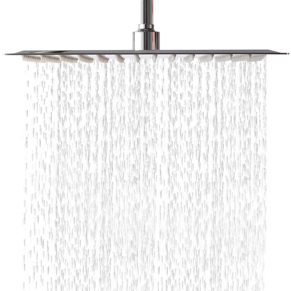 LORDEAR Luxury Large High Pressure 6 Setting Water Flexible Removable Rain Message Detachable Handheld Shower Head Set with Holder, 3.5 Shower Head with 60'' Stainless Steel Hose, Brushed Nickel 1