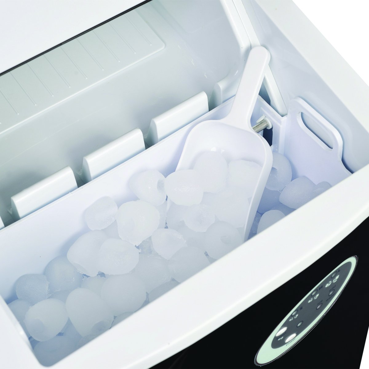Wassertankkapazit/ät 3.2l 12kg Eis in 24 Stunden PNI Summer P3 Counter Top Eisherstellermaschine Eismacher-Maschine 3 gr/össes Eisformen Eisspeicherkapazit/ät 1.1 kg