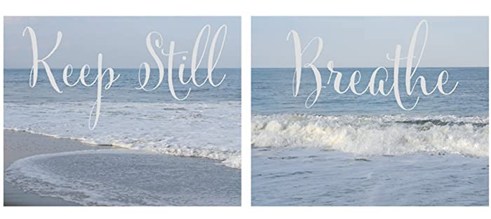 Amazon.com: Inspirational Art Prints, Breathe and Keep Still ...