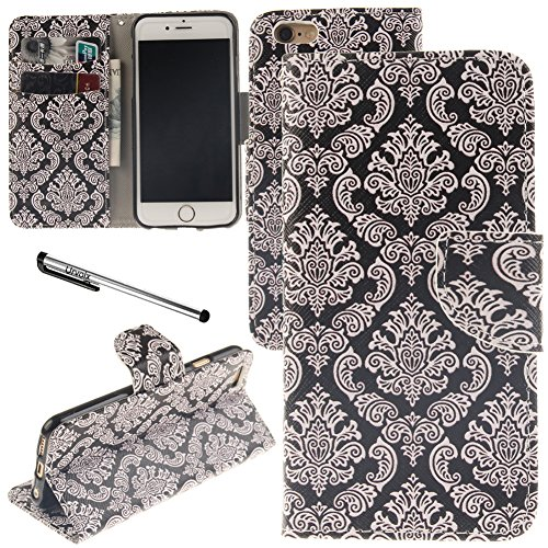 Urvoix-iPhone-6-iPhone-6S-Case-Card-Holder-Stand-Leather-Wallet-Case-Floral-Totem-Flip-Cover-for-47-iPhone66S-NOT-for-6Plus
