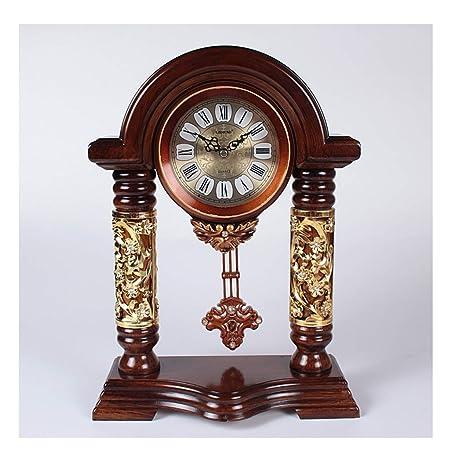 Reloj LWF Mesa de Madera Maciza Europea Sala de Estar casera ...