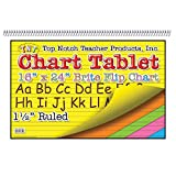 Top Notch Teacher Products Brite Chart Tablet (25 Count), 16'' x 24'', 1-1/2'', Assorted Colors