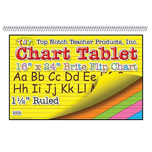 Top Notch Teacher Products Brite Chart Tablet (25 Count), 16