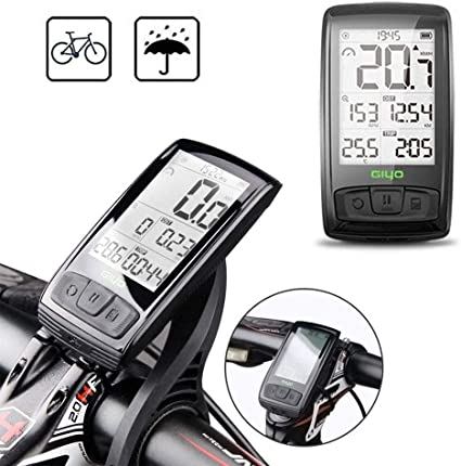 Wireless Bike Bicycle Cycle Computer With Heart Rate Black