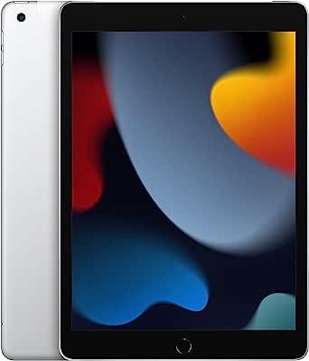2021 Apple iPad (10.2-inch, Wi-Fi + Cellular, 64GB) - Silver (9th Generation)