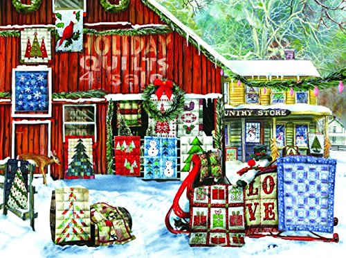 Holiday Quilts 1000 Piece Jigsaw Puzzle by SunsOut