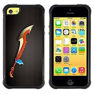 Suave TPU GEL Carcasa Funda Silicona Blando Estuche Caso de protección (para) Apple Iphone 5C / CECELL Phone case / / Magic Sword /