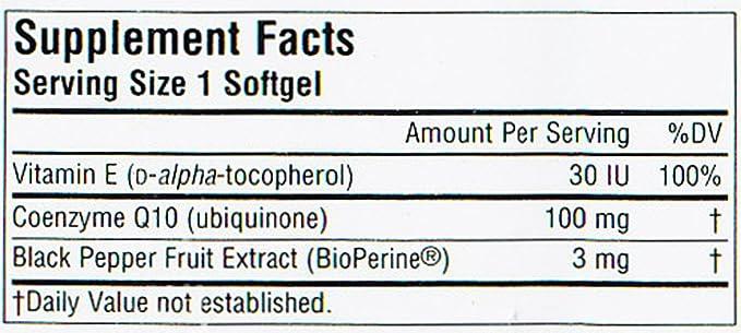 Coenzima Q10 con Bioperine - 100 mg - 30 cápsulas blandas: Amazon.es ...
