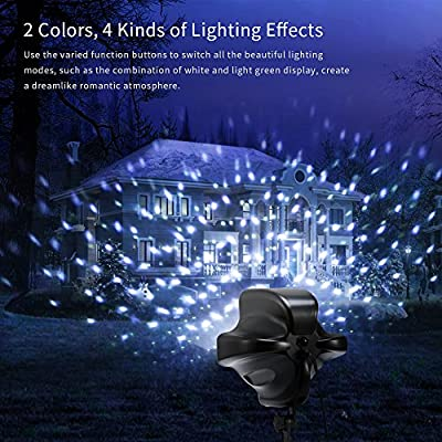 Ranipobo Outdoor Light Projector Christmas Party Garden Lights Remote Control Timing Spot Snowflake Lighting IP65 Waterproof Spotlights for Landscape Wedding Holiday Decoration