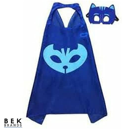 Bek Brands PJ Masks Catboy Superhero Cape and Mask Set | Dress up Satin Cape and