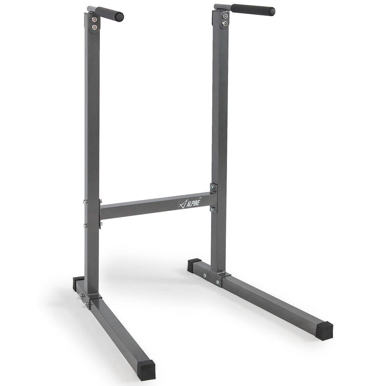 Globe House Products GHP Gray 38'' Lx33.5 Wx49.5 H Freestanding Lightweight Exercise Training Dip Station by Globe House Products