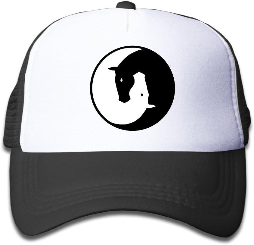 Mens Womens Grid Baseball Trucker Cap Dragon Yin Yang Casual Adjustable Sun Hat