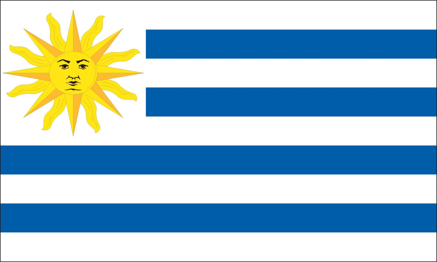 Valley Forge Flag 4-Foot by 6-Foot Nylon Uruguay Flag by Valley Forge