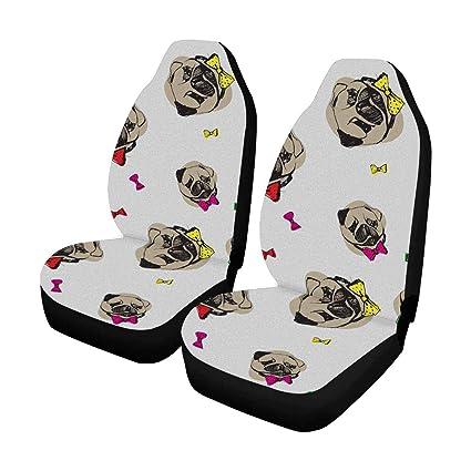 Phenomenal Amazon Com Interestprint Abstract Pug Dog Auto Seat Covers Machost Co Dining Chair Design Ideas Machostcouk