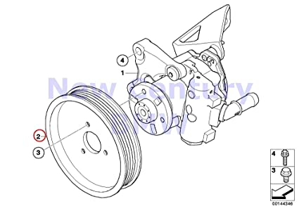 Amazon Com Bmw Genuine Power Steering Pump Pulley D116mm 525i