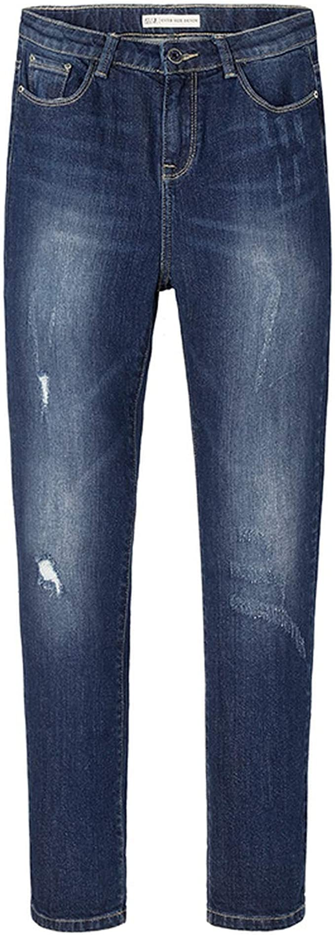 TiGcTRly Women Basic Vintage Distressed Regular Ripped Stretch Harem Jeans