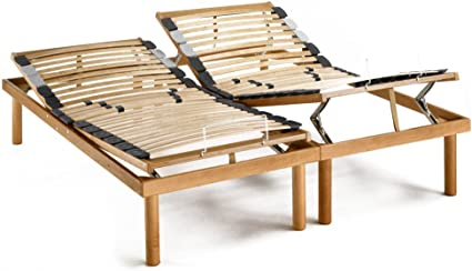 Gold Line – Somier con duelas reclinables, para cama matrimonial