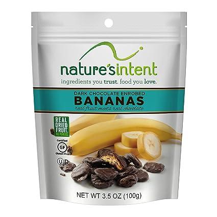 Natures Intent Dark Chocolate Covered Dried Bananas 3.5 oz ...