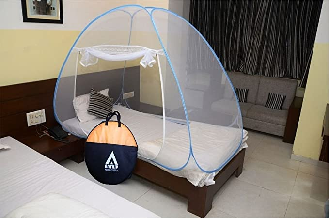 Antiliy Blue Single Bed Mosquito Net