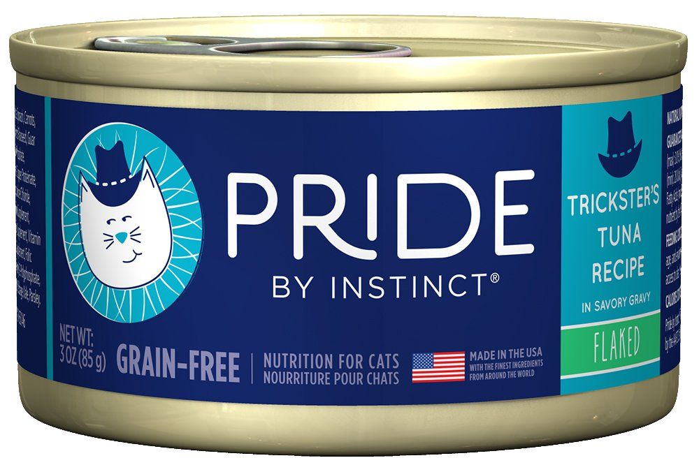 Pride by Instinct Grain Free Flaked Trickster's Tuna Recipe Natural Wet Canned Cat Food by Nature's Variety, 3 oz. cans (Case of 24) by Instinct