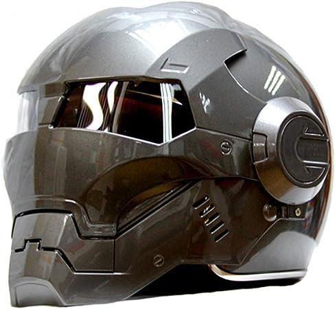 Cuffia SUV Grigio,S LSLVKEN Man Iron Man Helmet Marvel Avengers Autostrada Casco Professionale per et/à