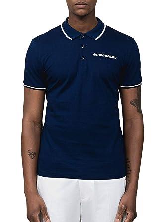Antony Morato Polo Logo Azul de Hombre XXL Azul: Amazon.es: Ropa y ...