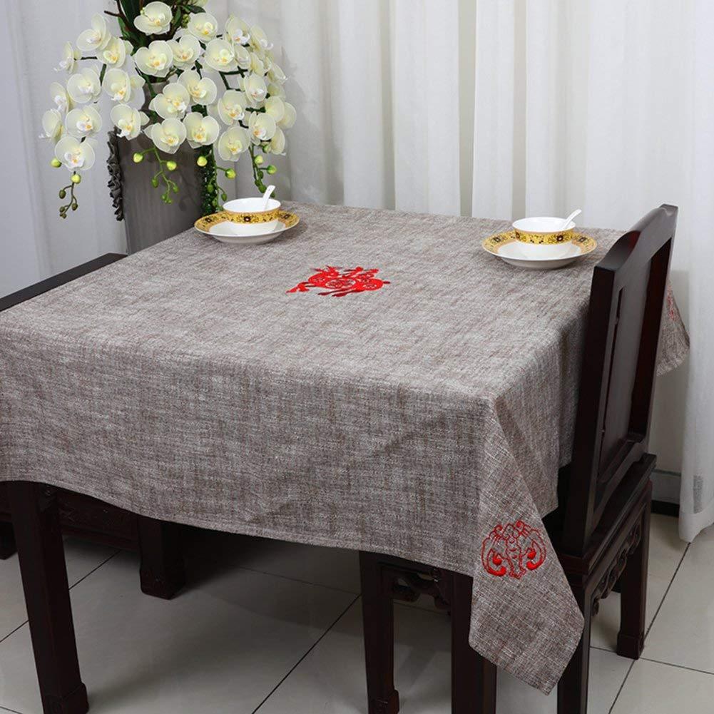 QYM テーブルクロス、テーブルクロス、亜麻、テーブルクロス (Color : I, サイズ : 150x150cm(59x59inch))   B07SCXPYH2