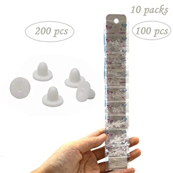 200Pcs Silicone Earring BackClear Ear Safety Back Pad Backstop Soft Replacement