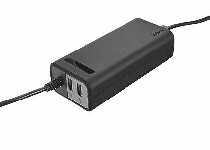 Trust Duo - Cargador para Ordenador portátil (70 W, 2 Puertos USB),