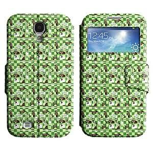 LEOCASE patrón de cuadros Funda Carcasa Cuero Tapa Case Para Samsung Galaxy S4 I9500 No.1005954