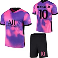 Voetbalshirt Neymar # 10 Away Game Voetbalshirt Set Korte Mouwen Shorts Pak Wk Voetbal voor Kinderen Jeugd Voetbalshirt…