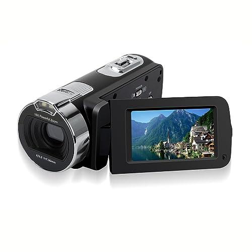 Camera Camcorders, Zoomk 16X Digital Zoom HD 1080P Mini Video Camcorder 2.7 Inche TFT LCD Screen Portable DV Video Camera ( 24 Mega Pixels)