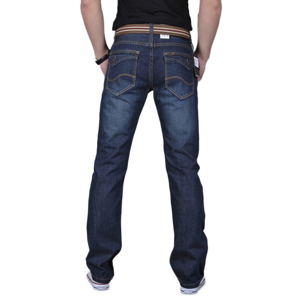 Yvelands /¡Ofertas claras Hombres Classic 5 Bolsillos Regular Fit Jean Casual Hip Hop Pantalones Vaqueros de Trabajo Holgado Sueltos /¡Caliente!
