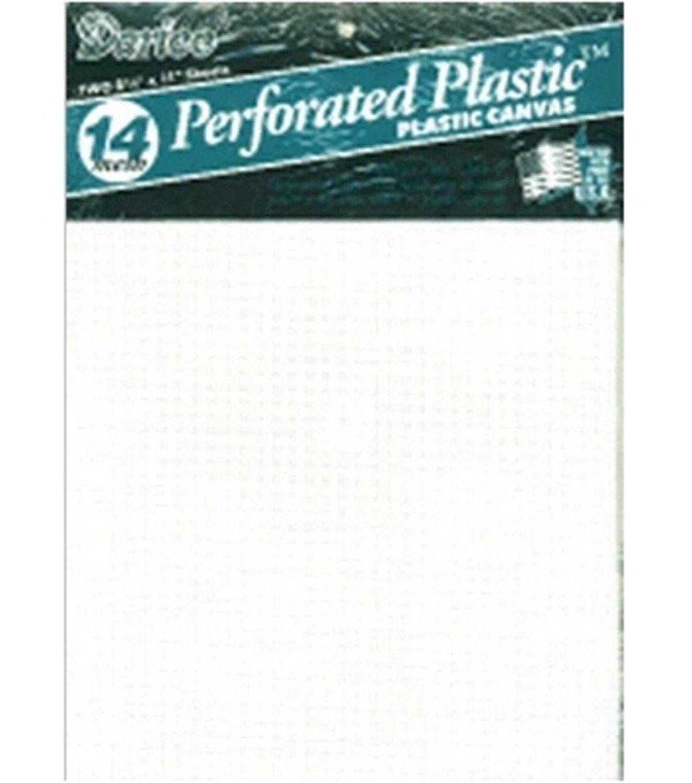 Perforated Plastic Canvas 14 Count 8.5X11 2/Pkg-White Darice B001145310-1