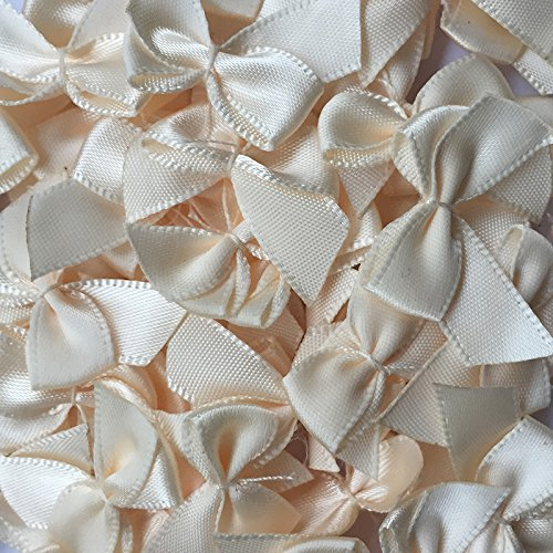 (Chenkou Craft 60pcs Mini Satin Ribbon Bows Flowers 1
