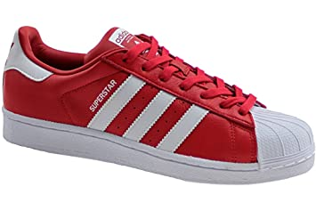 buy popular f0fa0 060b7 Adidas Superstar BB2240 Men s Trainers, Red, 10.5UK (Manufacturer Size 45 1