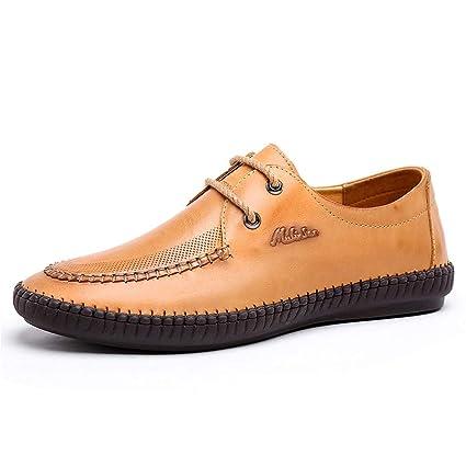 Amazon.com  LXLA- Men s Business Casual Lace Up Leather Shoes Mens ...