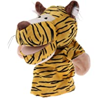 MagiDeal 9.45 inch Soft Zoo Animal Hand Puppet Pretend Role Play Toy for Kids Children - Yellow Tiger