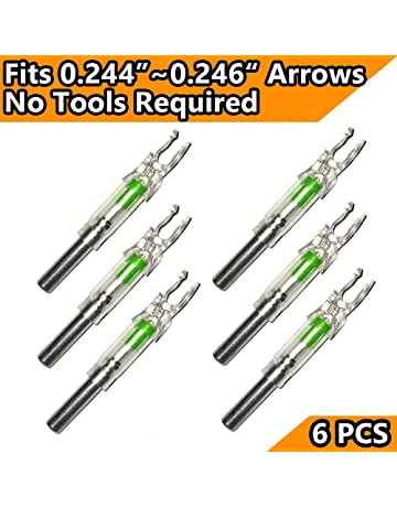 GearOZ Lighted Arrow Nocks for Archery Crossbow Bolts(Inner Diameter of 0.244