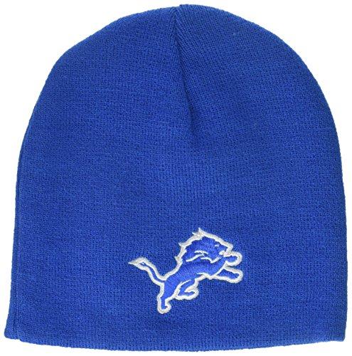 NFL Boys 4-7 Basic Cuffless Knit Hat-Lion Blue-1 Size, Detroit Lions