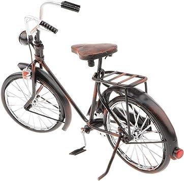 IPOTCH Modelo de Bicicleta Antigua de Hierro Obra de Arte Estilo ...
