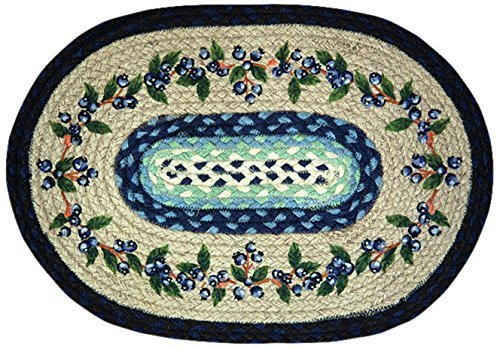 Earth Rugs 48-312 Blue Vine Oval Placemat, 13 by 19-Inch by Earth Rugs [並行輸入品]   B0192DC14S