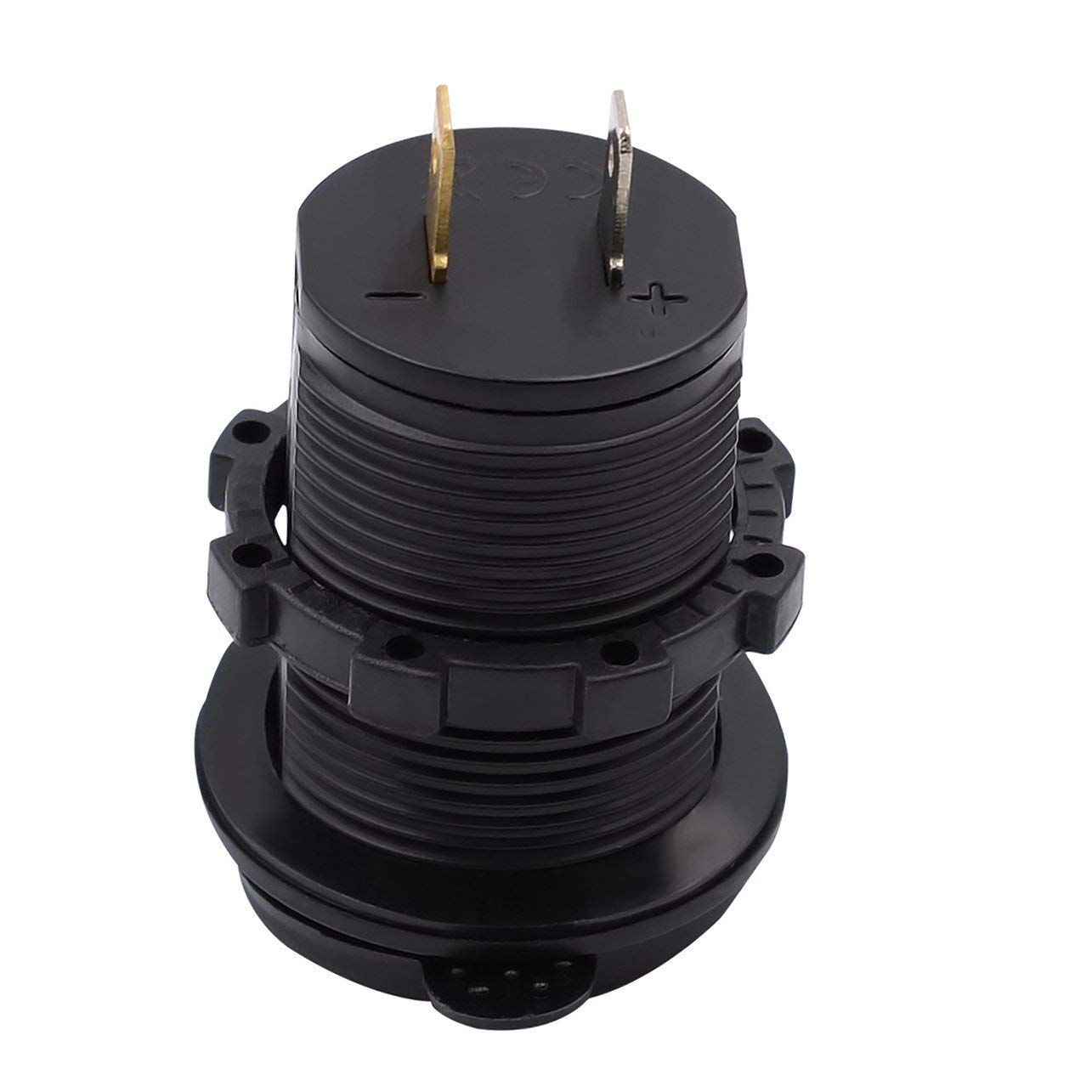 5V 4.2A Dual USB Socket Adaptateur Prise Chargeur pour 12V 24V Moto Voiture Haut Coefficient de s/écurit/é avec indicateur LED Jpstyle